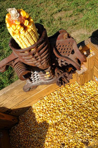 Crank Photograph - Antique Corn Sheller by Olivier Le Queinec