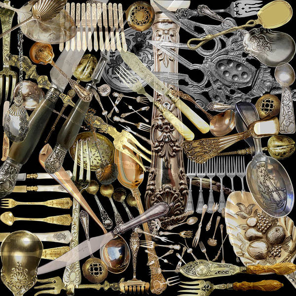 Photograph - Antique Cutlery  by Andrew Fare