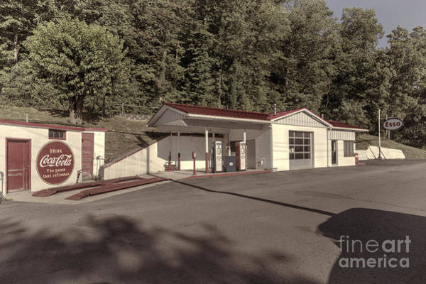 Photograph - Antique Esso Old Time Service Station by Dan Friend