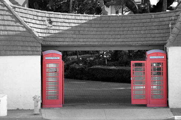 Wall Art - Photograph - Antique European Phone Booths by Colleen Cornelius