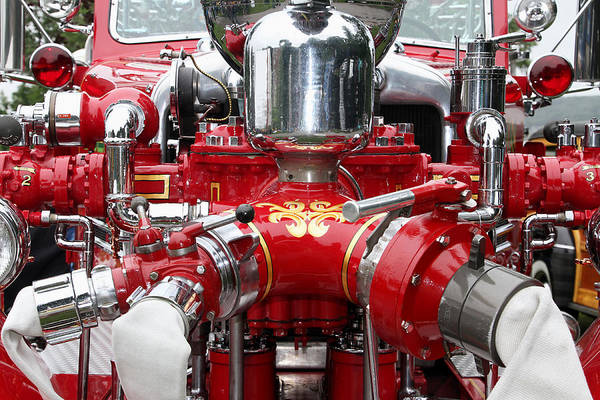 Photograph - Antique Fire Engine by Bob Slitzan