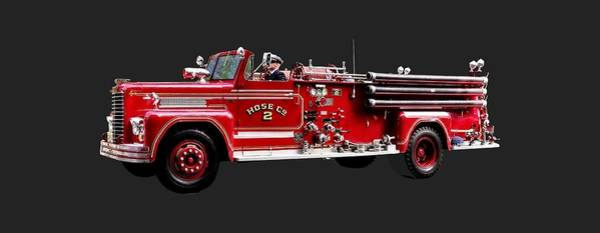 Photograph - Antique Fire Engine by Susan Savad