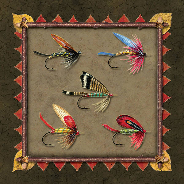 Painting - Antique Fly Panel by JQ Licensing