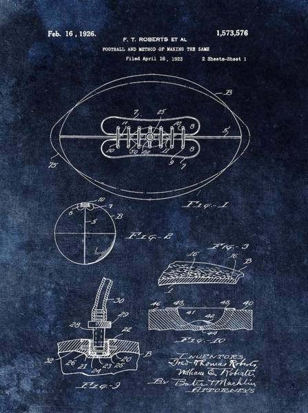Nfl Drawing - Antique Football Patent Drawing by Dan Sproul