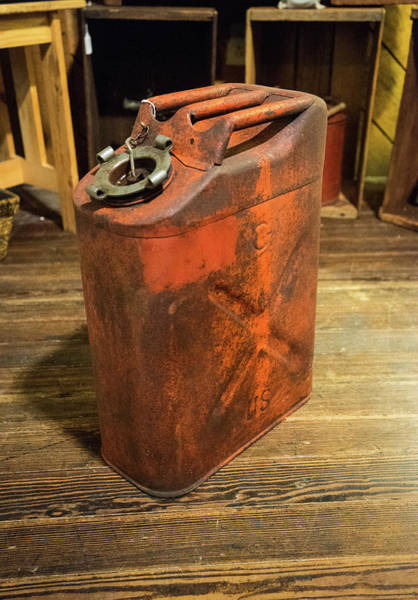 Sentimentality Photograph - Antique Gas Jerry Can by Douglas Barnett