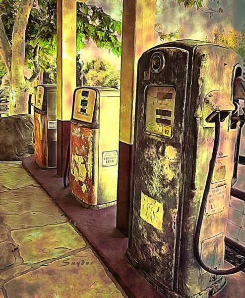 Photograph - Antique Gas Pumps Los Alamos California 2 by Barbara Snyder