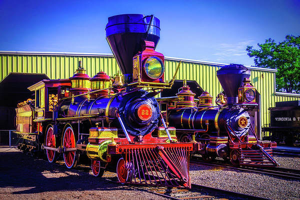 Loco Wall Art - Photograph - Antique Gingerbread Trains by Garry Gay