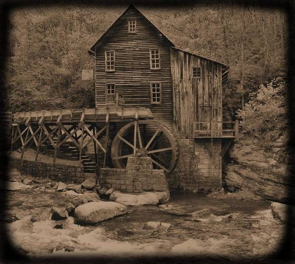 Photograph - Antique Glade Creek Grist Mill by Dan Sproul