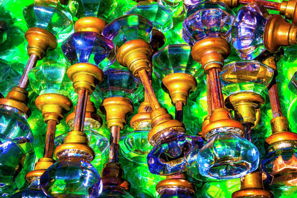 Wall Art - Photograph - Antique Glass Door Knobs by Garry Gay