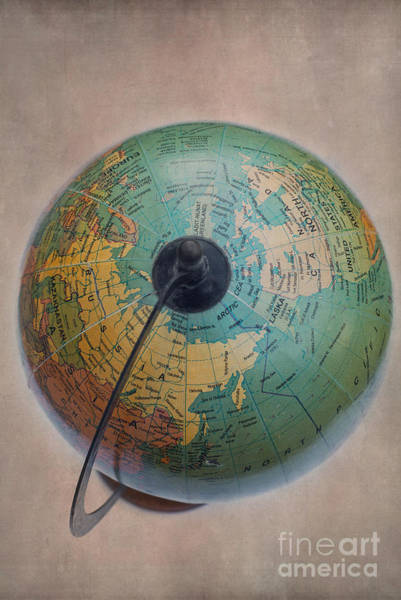 Photograph - Antique Globe by David Lichtneker