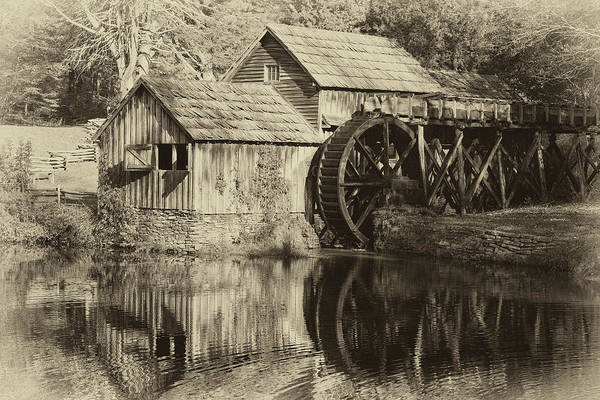 Photograph - Antique Grist Mill by Jill Lang