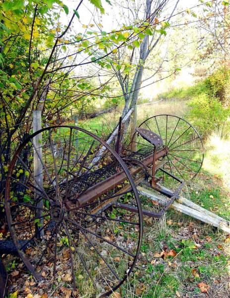 Hay Rake Photograph - Antique Hay Rake by Will Borden