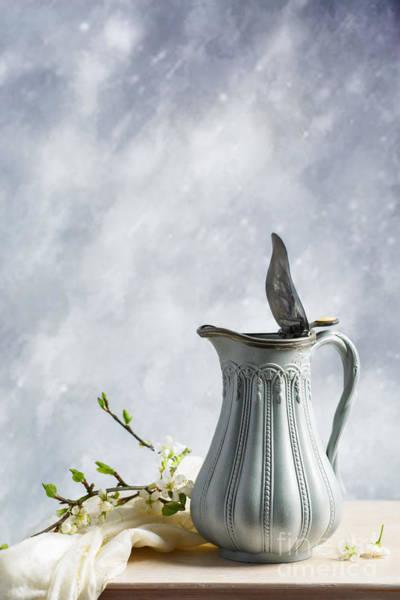Blue Vase Photograph - Antique Jug by Amanda Elwell