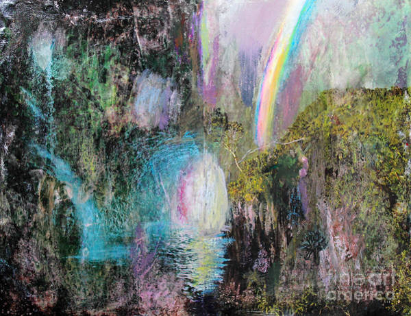 Painting - Antique Landscape With Rainbow by Anne Cameron Cutri