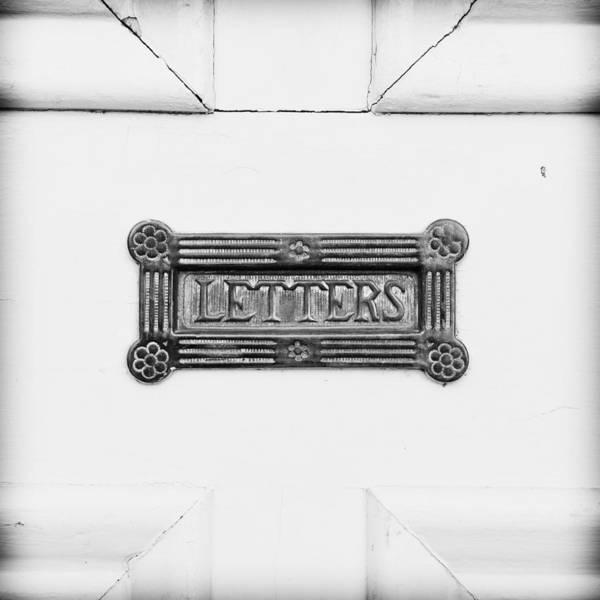 Mail Slot Photograph - Antique Letterbox by Tom Gowanlock
