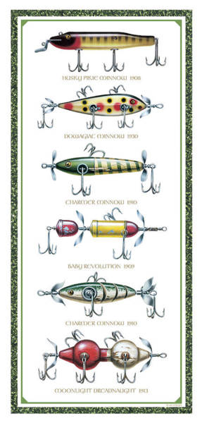 Bait Wall Art - Painting - Antique Lure Panel by JQ Licensing
