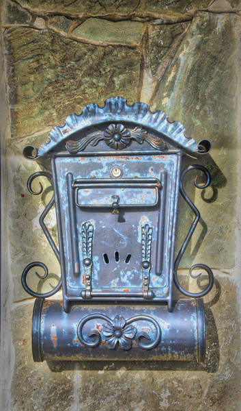 Photograph - Antique Mailbox And Newspaper Holder by Gary Slawsky