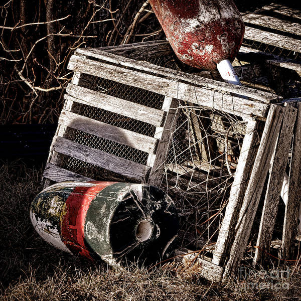 Wall Art - Photograph - Antique Maine Lobster Trap  by Olivier Le Queinec