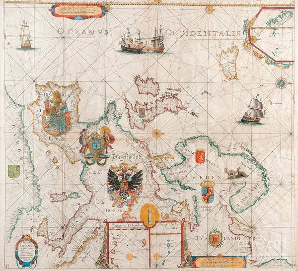 Painting - Antique Map by Celestial Images
