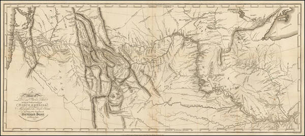 Destiny Drawing - Antique Map - Lewis And Clark's Track Across North America by Meriwether Lewis and William Clark