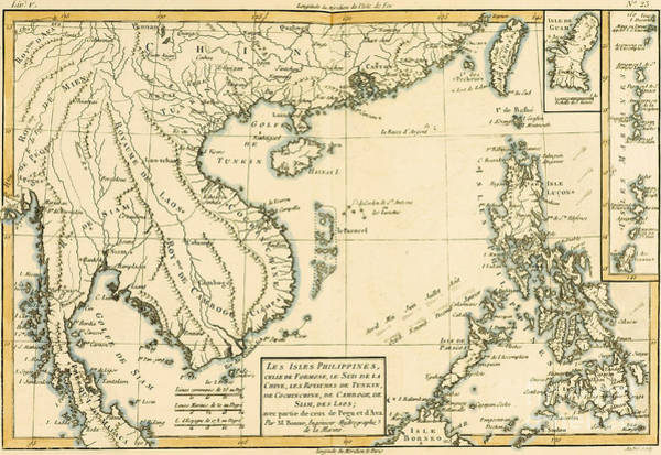 South Island Drawing - Antique Map Of South East Asia by Guillaume Raynal
