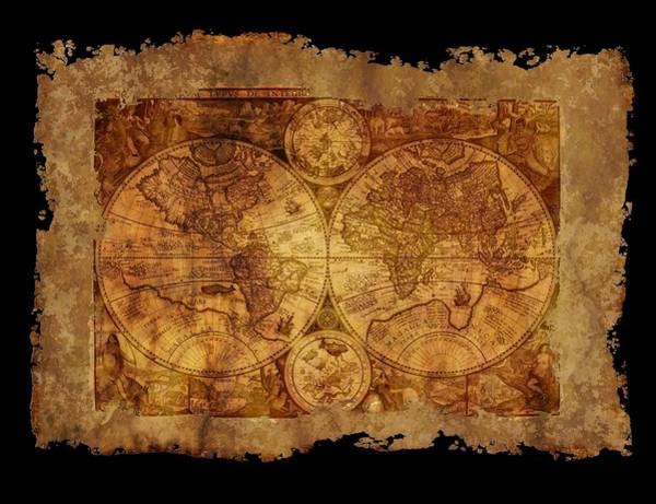 Digital Art - Antique Map Of The World by Ericamaxine Price