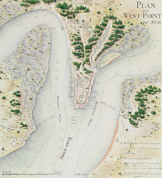 Old West Drawing - Antique Map Of West Point  Virginia by F Dubourg