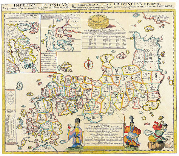 Japanese Drawing - Antique Maps - Old Cartographic Maps - Antique Map Of Japan And Its Provinces by Studio Grafiikka