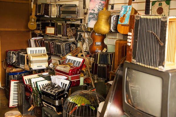 Montevideo Wall Art - Photograph - Antique Music Store by Jess Kraft