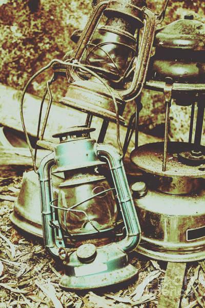 Mining Photograph - Antique Oil Lantern Fine Art by Jorgo Photography - Wall Art Gallery