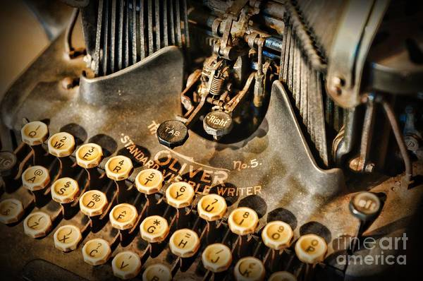 Tab Photograph - Antique Oliver Typewriter by Paul Ward