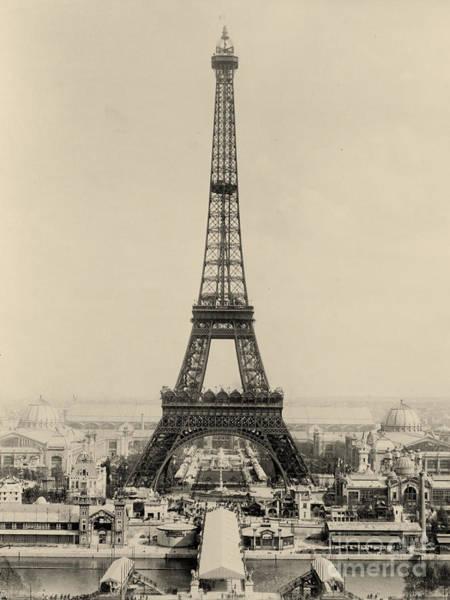 Le Tour De France Wall Art - Digital Art - Antique Paris Eiffel Tower Photograph by Scarebaby Design