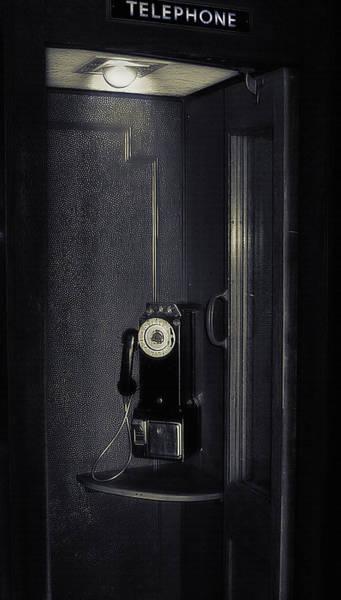 Wall Art - Photograph - Antique Phone Booth 2 - Lagoon Amusement Park Utah by Steve Ohlsen