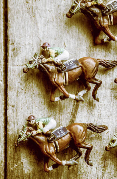 Thoroughbred Racing Wall Art - Photograph - Antique Photo Finish by Jorgo Photography - Wall Art Gallery