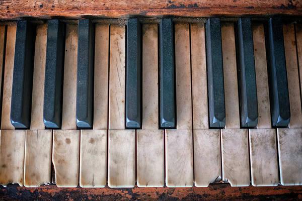 Photograph - Antique Piano Keys by Rick Berk