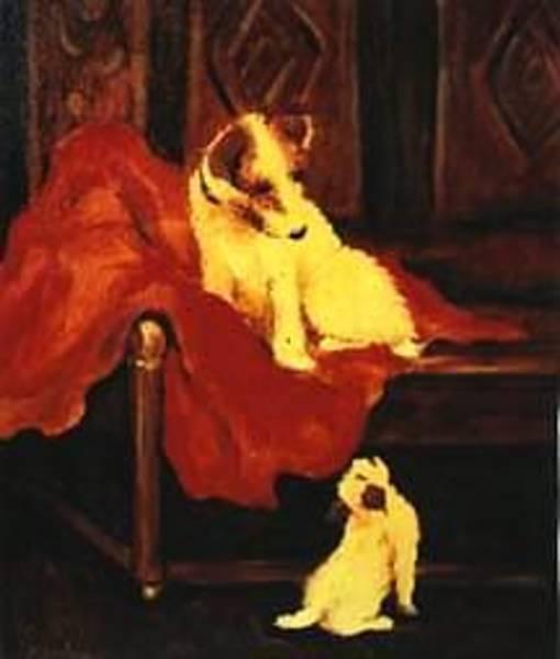 Painting - Antique Pups by Jordana Sands