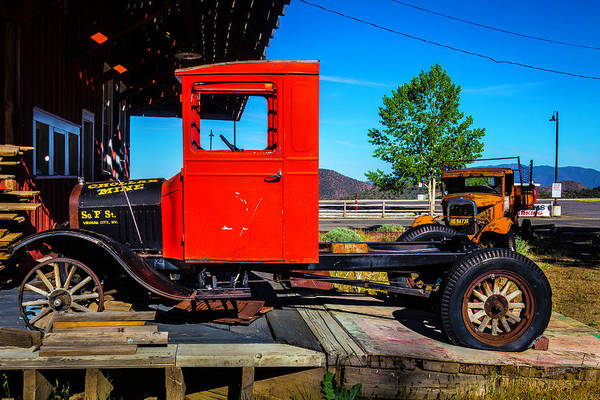 Wall Art - Photograph - Antique Red Truck by Garry Gay