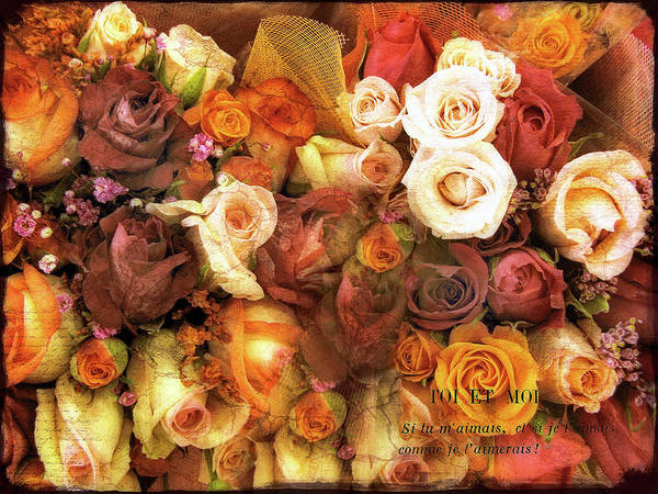 Photograph - Antiqued Roses by Jessica Jenney