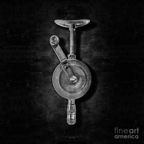 Wall Art - Photograph - Antique Shoulder Drill Front Bw by YoPedro