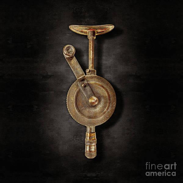 Wall Art - Photograph - Antique Shoulder Drill Front On Black by YoPedro