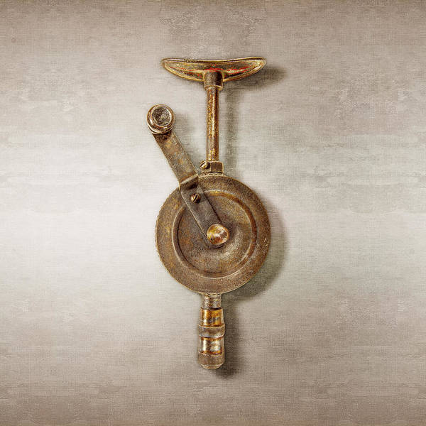 Drill Photograph - Antique Shoulder Drill Front Side by YoPedro