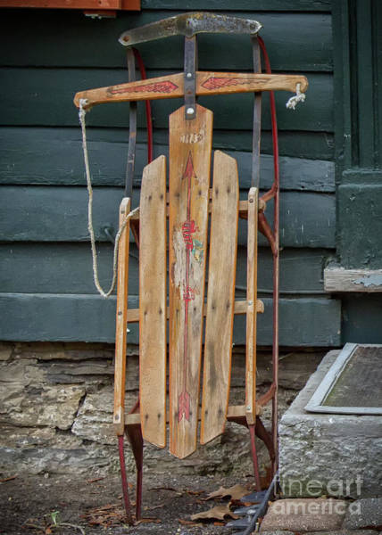 Photograph - Antique Sled by Rod Best