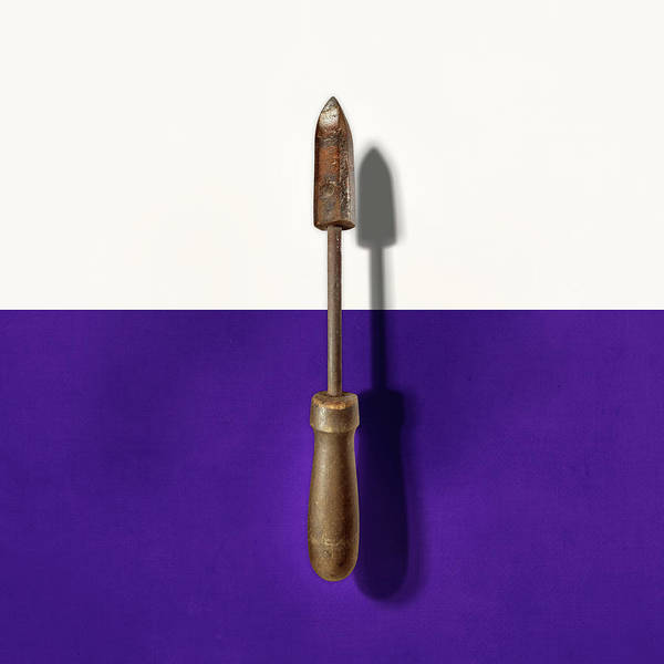 Wall Art - Photograph - Antique Soldering Iron On Color Paper by YoPedro