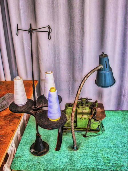 Photograph - Antique Stitching Machine Station by Gary Slawsky