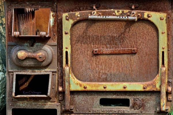 Photograph - Antique Stove Rust Abstract by Kae Cheatham