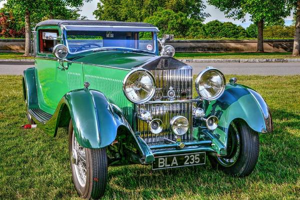 Photograph - Antique Rolls Royce  by Carol Montoya