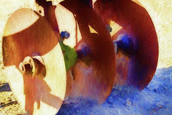 Cultivation Digital Art - Antique Tilling Plow 2 by Terry Davis