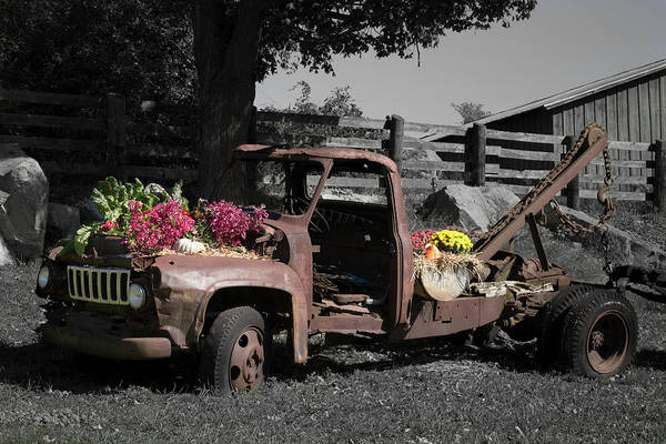 Photograph - Antique Tow Truck by Kirkodd Photography Of New England