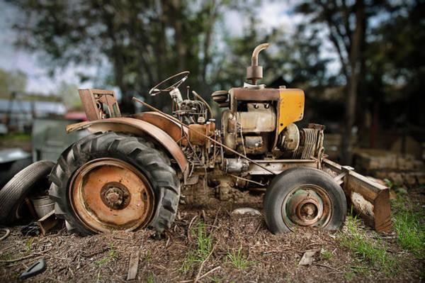 Bulldozer Photograph - Antique Tractor by Yo Pedro
