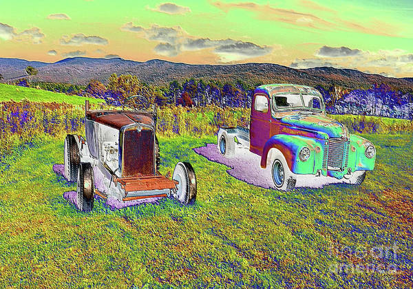 Waterbury Photograph - Antique Vehicles by Wanda-Lynn Searles